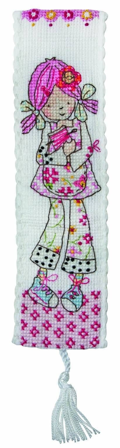 Emily Button Bookmark Cross Stitch Kit from Anchor Crafts - £10.75 on Past Impressions