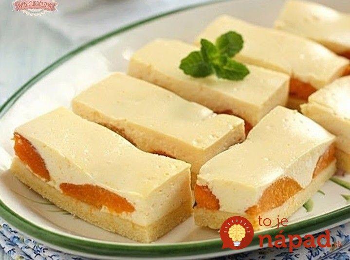 Ľahký a krémový koláčik, ktorý sa takmer roztápa na jazyku. Je rýchly, jednoduchý a skutočne lahodný, z prvej úrody marhúľ ho robíme každý jeden rok! Potrebujeme: Cesto: 300 g polohrubej múky 200 g masla 100 g práškového cukru 1 vajíčko Štipka soli 1