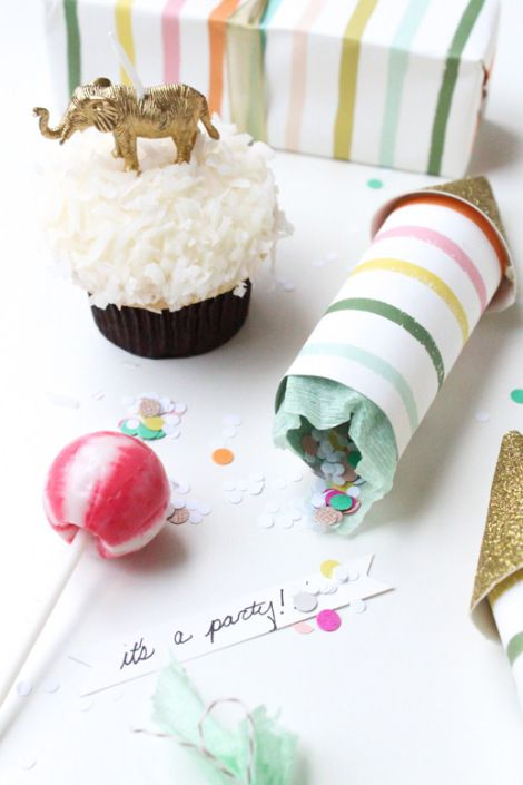 DIY Glittered Party Poppers
