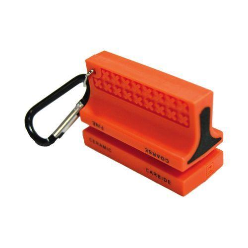 Ultimate Survival Technologies Ceramic Knife Sharpener Orange Ceramic & Carbide