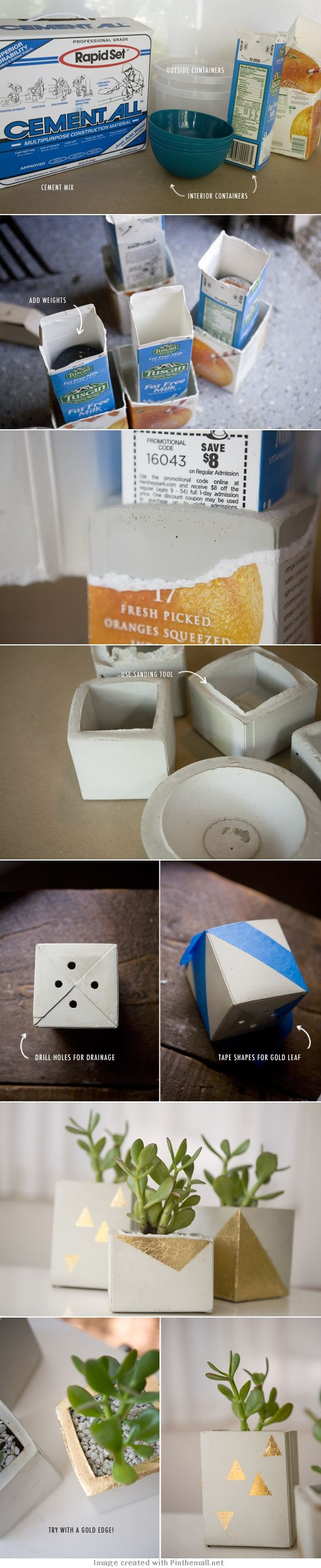 Event idea you can use common items that residents mjght have from items they have used. Like small paper ice cream containers. They can make their own decor with this event. Cement planters by Ruffled.