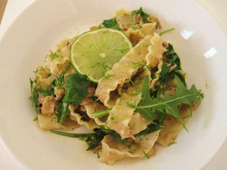 -Mafaldine pasta with Tuna and Lime-