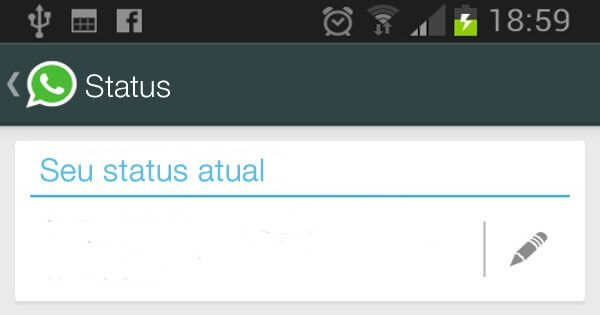 Como mudar a mensagem de status do WhatsApp