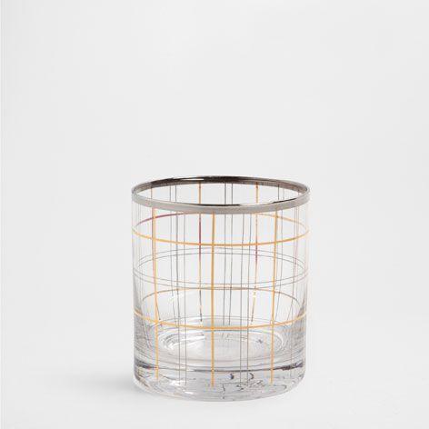 VERRE LIGNES DORÉES - Verrerie - Table | Zara Home France