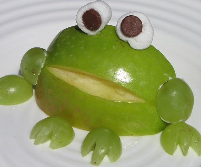 snack: Apples Frogs, Fun Food, Apple Frogs, For Kids, Cute Snacks, Snacks Ideas, Food Art, Kids Food, Cream Chee