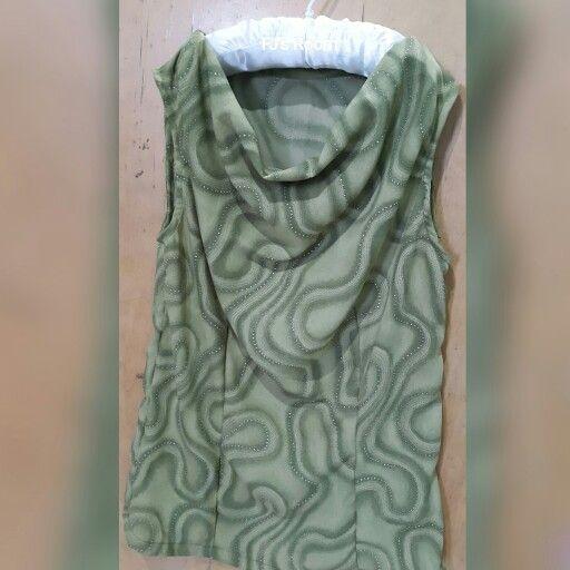 draped neckline blouse