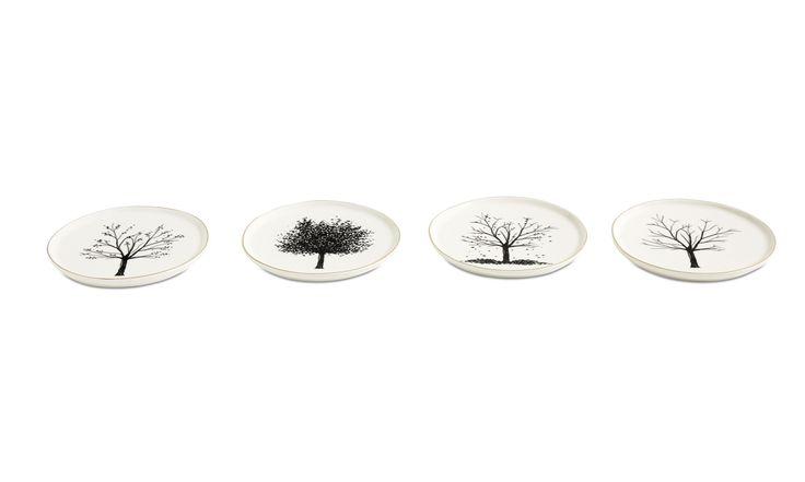 Christmas accessories - 4 Seasons breakfast plate - White - Ceramic
