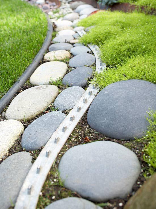 Use Found Objects: Garden Ideas, Garden Paths, Outdoor, Gardens, Gardening, Landscape, Stones, Rocks