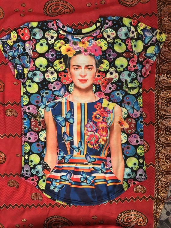 Frida kahlo t-shirt with famous quote Arbol de la esperanza, mantente firme Viva la vida Tree of Hope, stand straight Size Chart S- width 16 1/2 inches length 21 1/2 inches M- width 17 1/2 inches length 22 1/2 inches L- width 18 1/2 inches length 23 1/2 inches XL- width 19 1/2 inches length 24 1/2 inches  The item is wrapped on a nice tissue paper. Recommended Care Instructions: Wash inside out with cold water. Hand wash or Gentle cycle. Do not tumble d...