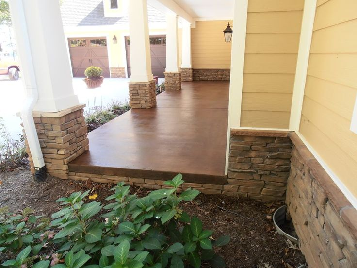 Stained Concrete for exterior porches and patios.