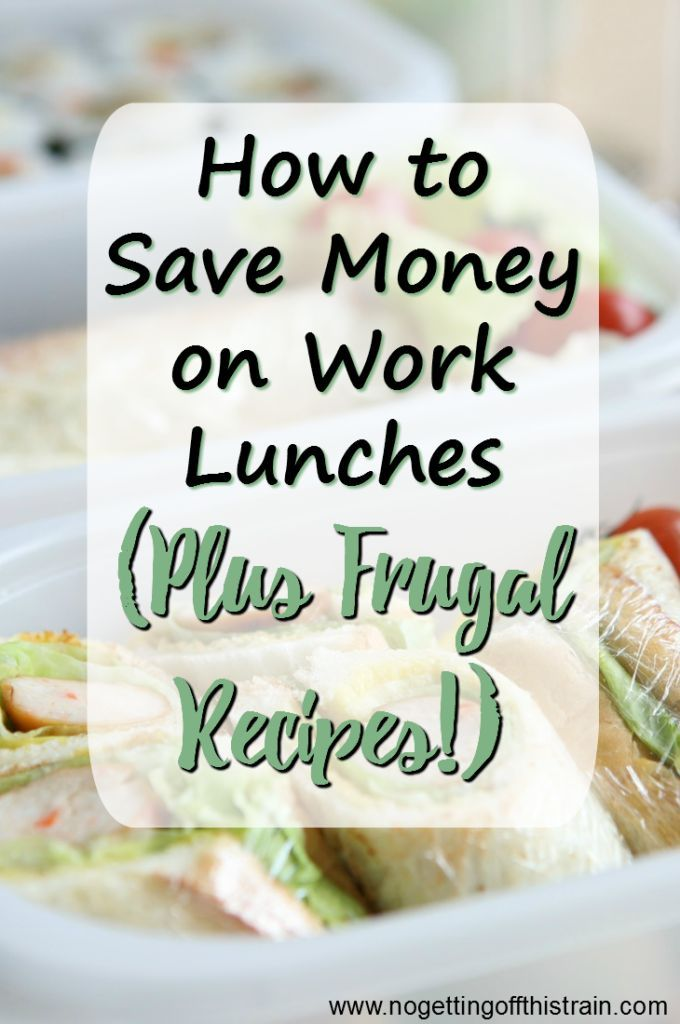 Do you spend too much money eating out for lunch? Here's how to save money on work lunches, plus frugal recipes!