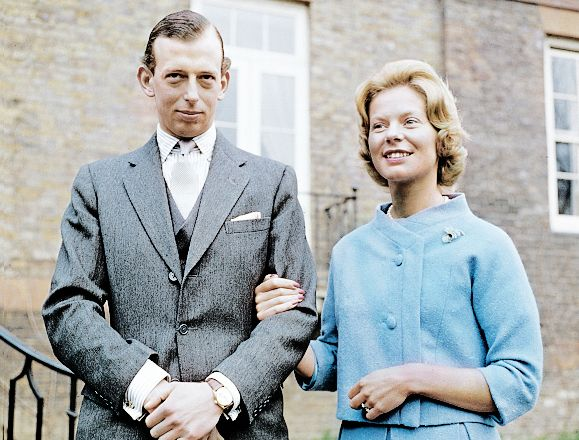 misshonoriaglossop:  Engagement Prince Edward, Duke of Kent, and Miss Katharine Worsley, March 9, 1961
