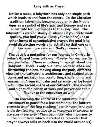 Prayer Labyrinth | Saint George's Cathedral