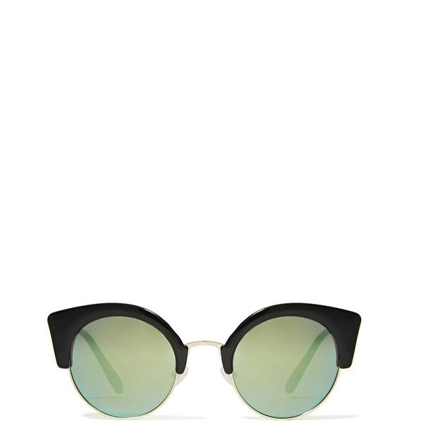 Cheap Monday Expo Shades - Green Mirror found on Polyvore