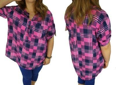 BUTIK-FINEZJA Koszula w kratę r UNI 44,46,48 duże
