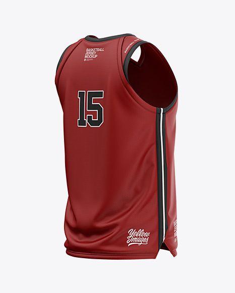 Download Mens V-Neck Basketball Jersey Mockup Back Half Side View ...