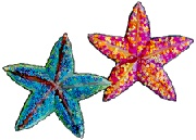 Paper Plate Starfish Craft for Kids. They look so cool!    #kidscrafts #kids #children