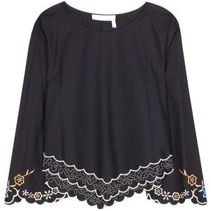 See By Chloé Embroidered Cotton Blouse