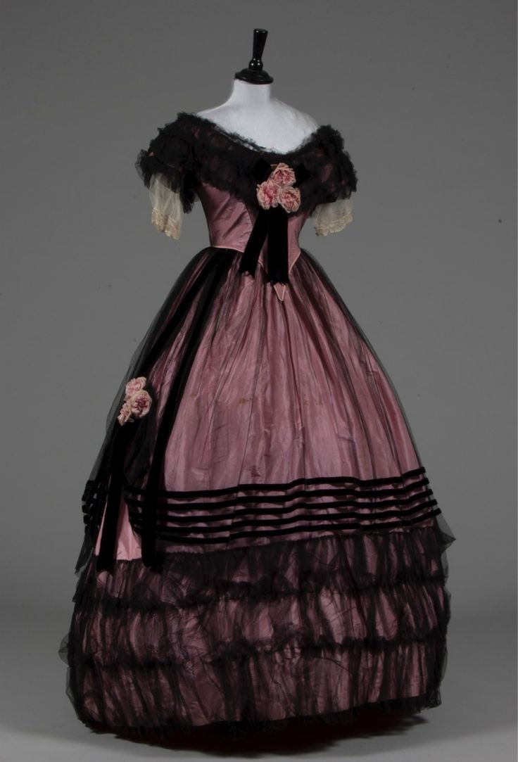 Evening dress, late 1850's From Kerry Taylor Auctions