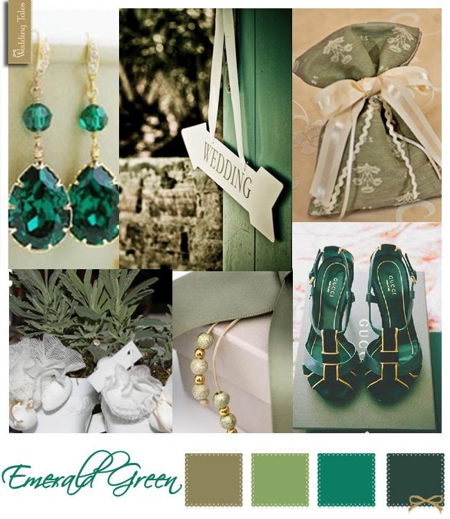 Wedding Moodboard   Emerald Green