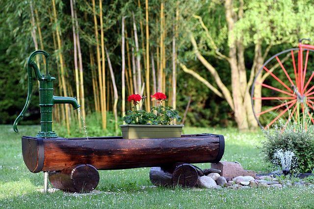 Gratis bilde på Pixabay - Hage, Geranier, Våren, Bambus