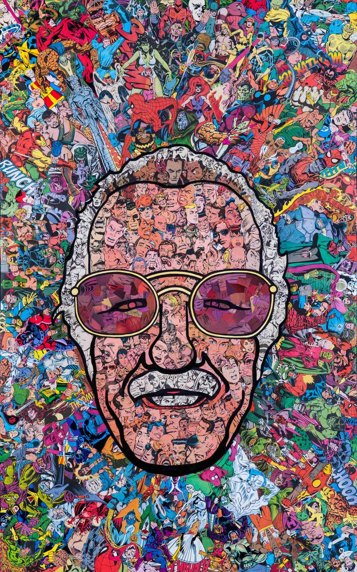 Stan Lee Collage by Mr. Garcin