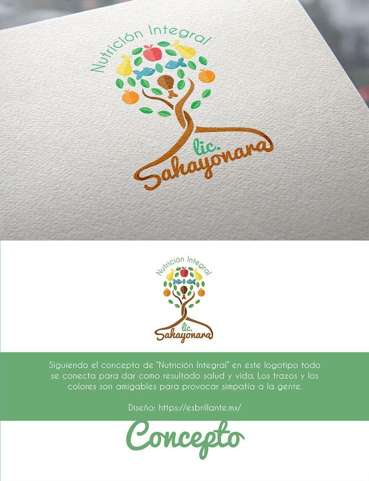 """Siguiendo el concepto de """"Nutrición Integral"""" es este logotipo todo se conecta para dar como resultado salud y vida. Los trazos y los colores son amigables para provocar simpatía a la gente.  #logotipo #logo #nutrióloga #nutrición #salud"""