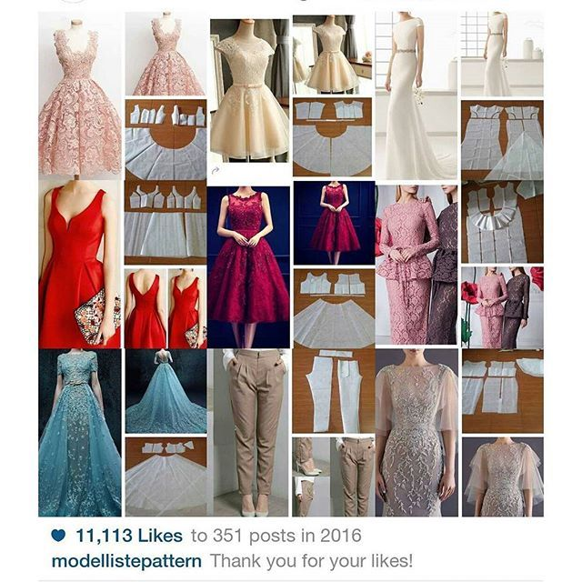 Our best nine 2016 post.  Some of them are best seller pattern   Still accept any order and we start working after holiday  Thanks dear!   #modellistepattern #bestnine2016#2016bestnine#modellistebestnine#bestnine#toppost
