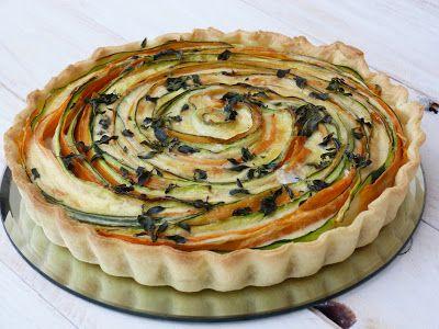 Tarte aux légumes: courgettes, carottes et St Marcellin