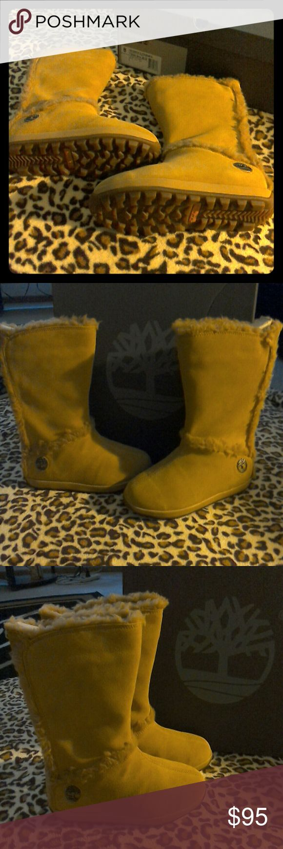 Timberland Mukluk Fur boot Beautiful wheat color pull on boots.  Very comfortable and perfect for the winter weather that is fast approaching.  Brand New Timberland Shoes Winter & Rain Boots