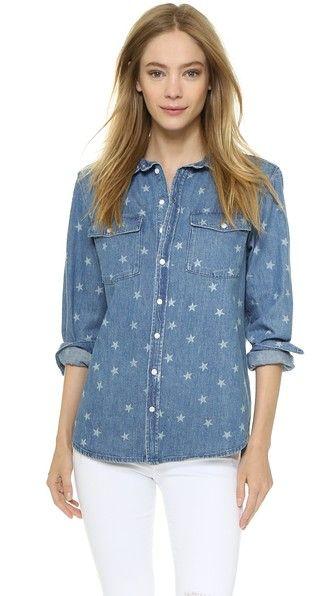 Zoe Karssen Star Chambray Buttondown Shirt