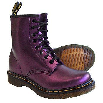 Reminds me of early highscool punkrock days. Dr Martens 1460 Shimmer Boots (Purple)