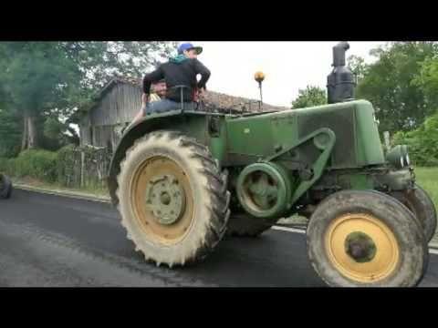 LESTERPS(16) juin 2015 défilé avec 60 vieux tracteurs - YouTube
