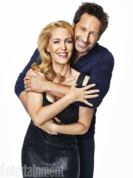 Gillian Anderson and David Duchovny, photographed by Gavin Bond for EW Weekly, Oct 25 - Nov 1, 2013.