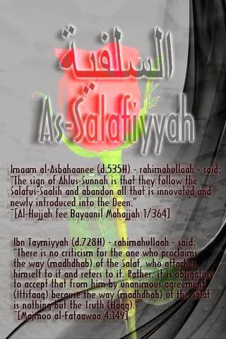 As-Salafiyyah is to follow the Salaf, and abandon al the Bid'ah!