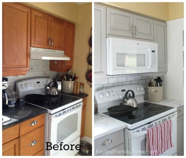 Think you don't have the space for an over-the-range microwave?  Think again!  Here's how to.