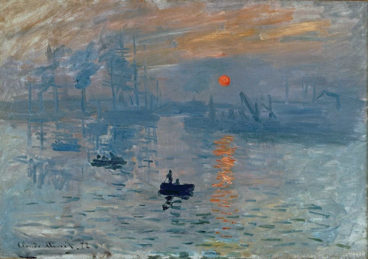 <인상 : 해돋이 (Impression : Sunrise)>-클로드 모네 (Claude-Oscar Monet)