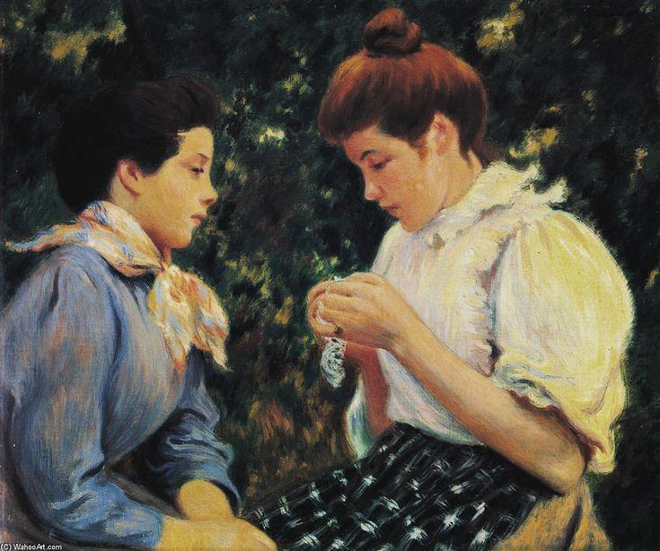 Uncinetto lezione di Federico Zandomeneghi (1841-1917, Italy)