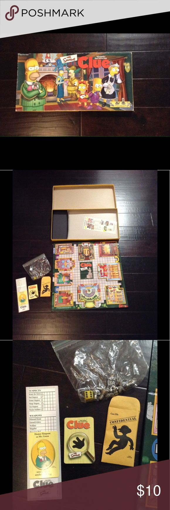 The Simpsons Clue Board Game 2000 Complete Complete and intact.  There is wear to box as evidenced in photos but game is complete and intact and in excellent shape for its age. From a smoke-free home. All offers considered. Parker Bros Other