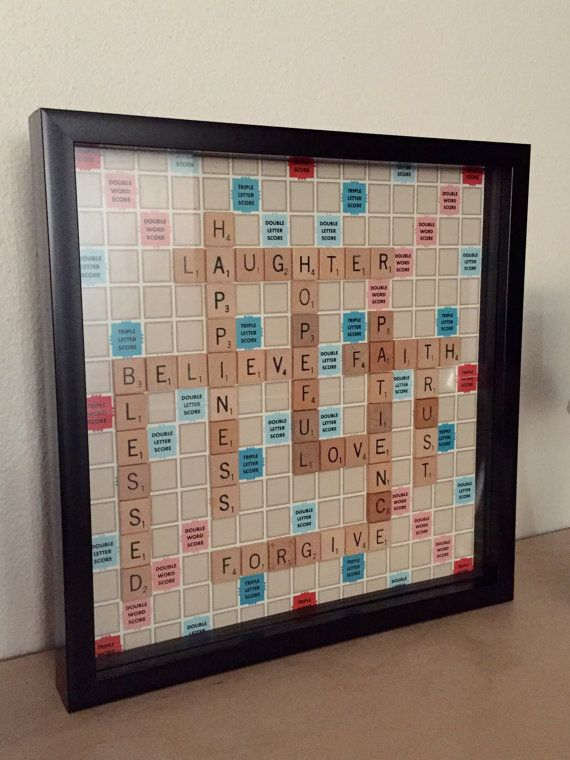 Inspirational Words Scrabble Wall Art for by ABCustomizations