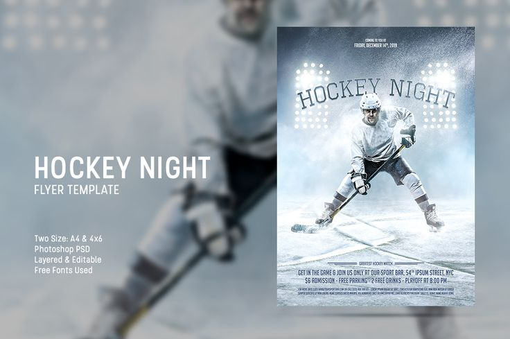 Sport session flyer template designed to promote your upcoming hockey match, tournament, or for any events related with ice hockey sport.Available now at CreativeMarket #creativemarket #flyer #poster #template #photoshop