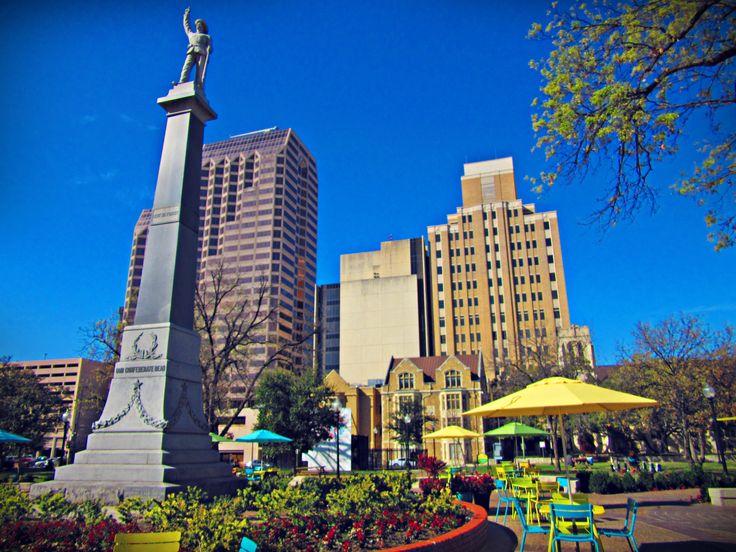 Travis Park in San Antonio, Texas