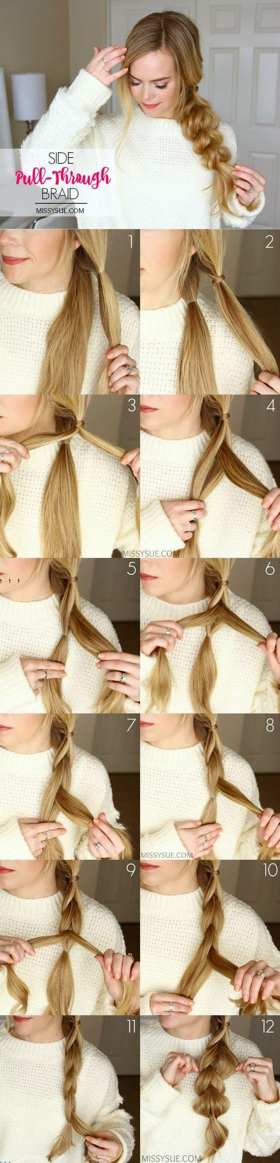 Missy Sue's       Pull Through Side Braid Tutorial