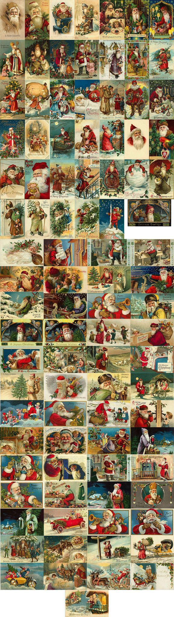 He goes by Santa Claus, Saint Nicholas and Father Christmas. Call him what you like, but he's an iconic part of many people's Christmas celebrations. This collection of 200 vintage graphics features m
