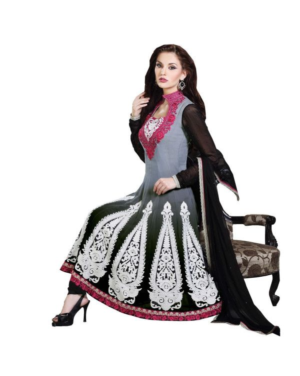 Grey Lace Work Salwar Suit  To know more or buy, please click Below:- http://www.ethnicstation.com/grey-lace-work-salwar-suit-ro1057  #LaceWorkSalwarSuit #CashOnDelivery