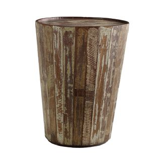 @Overstock - Crafted in India, this distressed side table features a unique barrel design. A unique natural finish paired with reclaimed wood from old planks make this table the perfect accent piece to any space.   http://www.overstock.com/Home-Garden/Hampton-Barrel-Side-Table/7485070/product.html?CID=214117 $163.79