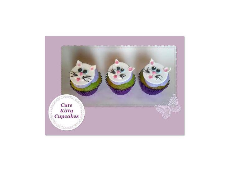 Cute little kitty cupcakes, handmade by Suga Suga Cupcakes