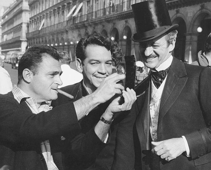 David Niven, Cantinflas and Michael Todd