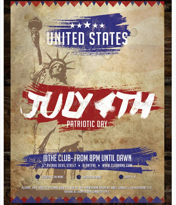25 best July 4th Flyer Template images on Pinterest Flyer - picnic flyer template