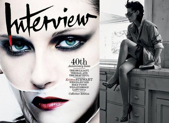Kristen Stewart in Interview Magazine